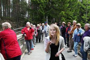 Det gällde att ta täten och peka ut riktningen, för Sara Lindberg och de andra guiderna.