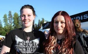 Sandra Persson och Belinda Breed från Alfta är på festivalen för första gången. Foto: Jennie-Lie Kjörnsberg