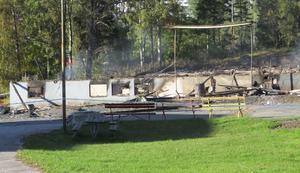 Gamla Folkets park i Fagersta brann ned natten till den 17 september.