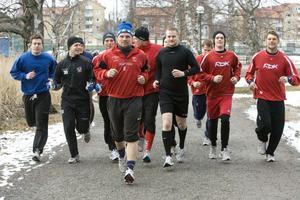 HHC spelarna kan räkna med många löprundor runt Lillfjärden.