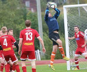 Andreas Ekberg gjorde som vanligt en bra insats i Hedemålet. De två målen var han dock chanslös på. (arkivbild)