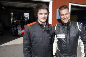 Robin Sundkvist och Paul Eriksson var fartmässigt bra med isin Porsche.