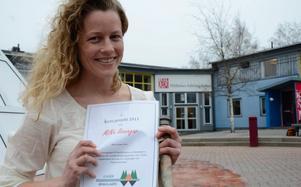 Årets leader Bergslagen projekt 2011. Det blev MiNa lösningar som Lotta Sartz i Bergskraft Bergslagen jobbar med.