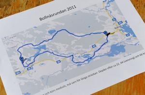 Deltagarna i Bollnäsrundan cyklade till Alfta och vände – en eller två gånger – på lördagsmorgonen.