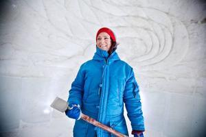Fotografen och isskulptören Anna Öhlund, Åre, har gjort en relief av Venus Aurora. Anna är passionerat intresserad av snö och is. Men så har hon också arbetat i Jukkasjärvi Ice hotel i flera år. Hon har nyligen gett ut en fotobok om ishotellet i Jukkasjärvi.