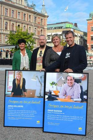 Maria Lindgren, Patrik Hansson, Lena Sjödin Roman och Anders Lövgren. Anna Kollberg och Omar Barsom var bortresta, men ändå representerade.