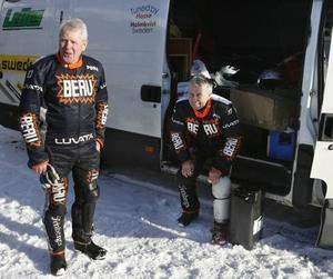 """70-årige Rune Eriksson med sin tio år yngre idol, Per-Olov """"Posa"""" Serenius."""