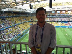 Sportens Oskar Lund på plats i Nice för att bevaka Sveriges match mot Belgien.
