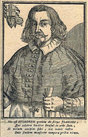 Porträtt från Skara av ärkebiskop Johannes Magnus.