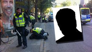 Det var i samband med den här nazistdemonstrationen i Stockholm som den grova misshandeln ska ha ägt rum.