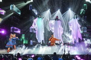 Lördagen 21 februari 2015 stod Jon Henrik Fjällgren på scenen i Östersunds Arena och framförde låten