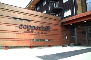 Copperhillhotellets entré glänser inte längre lika blank uppe på Förberget. Hotellets framtid är fortfarande osäker.