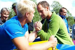 Skidåkaren och OS-guldmedaljören Anders Södergren gjorde ett försök.