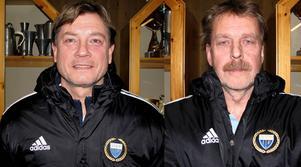 Nya ansikten i Ope. Jan Netzler och Åke Hellström. Båda har ett förflutet i Östersunds FK, medan Hellström i många år varit ungdomstränare i Ope.