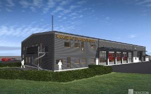 Nya brandstationen i Vansbro. Ill: Vansbro Kommun