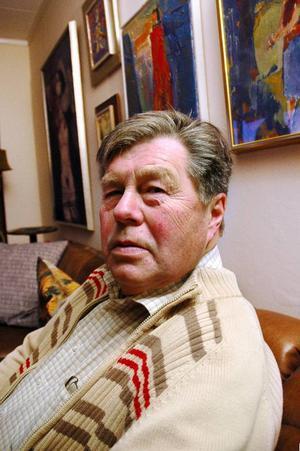 Stig Göransson, c, var kommunalråd  i Berg i slutet av 1990-talet och  i början av 2000-talet och en av de drivande i stickspårsprojektet. Han tycker inte att spåren är en flopp.Foto: Lennart Mattsson
