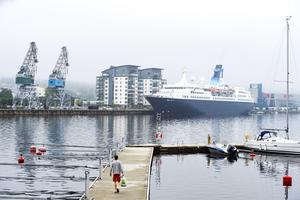 Saga Pearl II är 163 meter långt och väger 18 500 ton.
