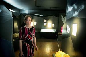 Verksamhetschef Anna Björkman är glad över att äntligen kunna presentera första etappen i den nya utställningen i Gruvmuseet.