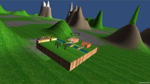 Här är en bild från det spel som Edi Buhic skapat.