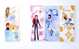 Elisabeth Eriksson har inspirerats av gamla manga-figurer.