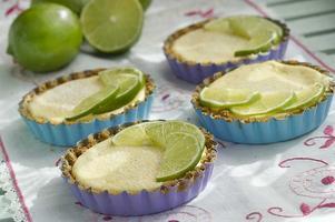 Key lime pie är en amerikansk klassiker. De här små minipajerna är spetsade med tequila.