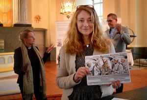 Anna Segebo, Ingrid Weilguni Larsson och Mattias Rådbo har sett till att Säterborna får ta del av utställningen När Luther blev viral.