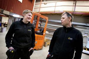 Hanna Ek och Håkan Selemo tog initiativet till viktklubben på GIA. Till midsommar hoppas de ha kommit i form.