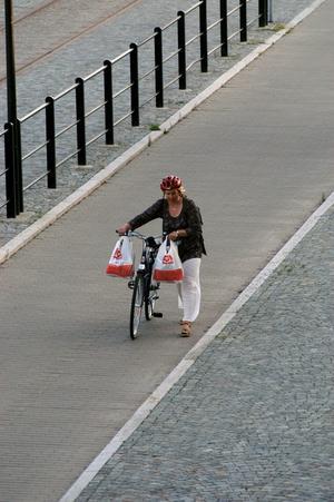 För ensam. Cykelfrämjandet tycker att kommunerna tydligt måste sträva efter fler cyklister.Foto: Scanpix/TT