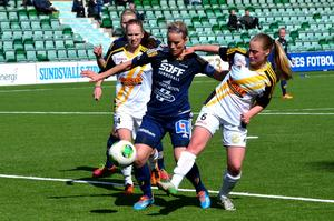 Lagkapten Ida Brännström och hennes SDFF förlorade för första gången den här säsongen.