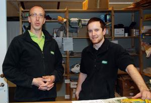 Ronnie Eriksson och Emil Persson kan i mars summera det första året för den nya Tempobutiken.