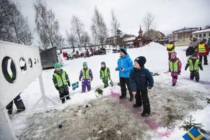 Många barn och ungdomar är på Jamtli under sportlovsveckan. Där erbjuds olika aktivitetet med OS-teman.