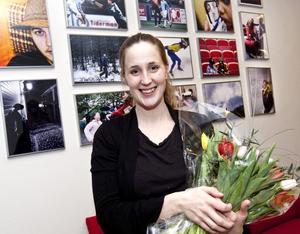 Joanna Wågström, reporter på Arbetarbladet, tilldelades Klara Lindh-stipendiet på fredagen.