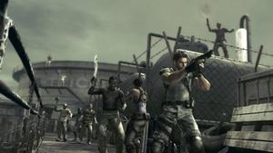Snygg och intensiv action i Resident evil.