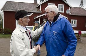 De framgångsrika skidåkarna Erik Jonsson, nu 90 år, och Bengt