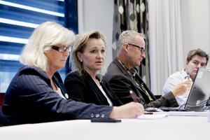 Kommunalråden Eva Lofvar Konradsson (MP), Boel Godner (S), Staffan Norberg (V) och Elof Hansjons (S).