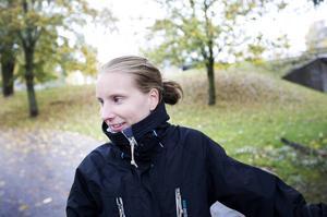 Sofie Jansson räds inte lövhalka.