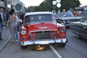 Många motorer gick varma i medelhavsvärmen som rådde i Hudiksvall på lördagskvällen.