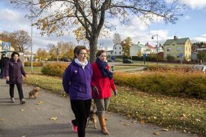 Birgitta och Ida Jonsson går promenaden för alla cancersjuka. Själv fick Ida lungcancer när hon var 29, nu är hon 31 och har gått igen 29 cellgiftbehandlingar.
