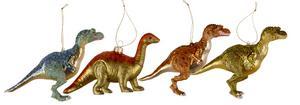 Dinosaurier till granen finns på Rusta för 29,90 styck.