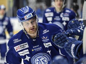 Mattias Ritola fick nöta powerplay under sin första isträning med Leksands IF.