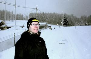 Britt Carlsson har bråda dagar för att ordna allting inför de två stora skidcuperna som kommer att gå av stapeln på skidstadion i Zinkgruvan nästa helg.BILD: JESSICA UHLIN