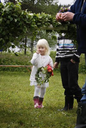 Veronica Hellstadius var förberedd med gummistövlar om det skulle bli dans i regn.