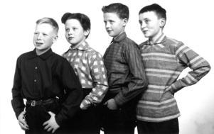 Barn i släkten Wallner fick ofta agera modeller och mannekänger.