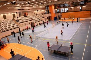 Bara massor utav sport. Zumba, cirkelträning, spinning och volleyboll var några av sporterna elever och lärare kunde testa. I arenan spelades det pingis, badminton, volleyboll och fotboll.