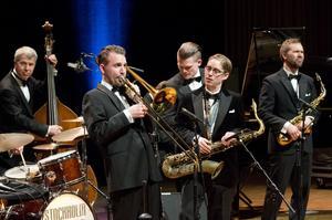 Lördag den 25 mars anordnas Festijazz i Konserthuset i Västerås, för sista gången. Bilden: Stockholm Swing All Star vid fjolårets evenemang.