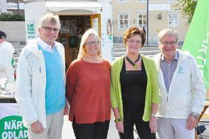 Per Åsling (C), Marit Arnstad och Heidi Greni från norska Senterpartiet och Håkan Larsson (C) presenterade tillsammans sitt nya förslag om större gränsöverskridande samarbete.