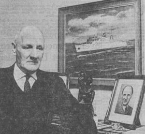 HITLERS HELVETE. Sjömannen Knut Mineur från Gävle satt i tukthus i Nazityskland i 39 månader, från hösten 1934 till våren 1938. Han anklagades för att ha spridit kommunistisk propaganda i Hamburg. Bilden är från 1964 då Mineur fick 80 000 kr i ersättning från västtyska staten.