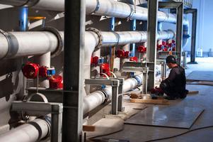 Lennhedens vattenverk försörjer både Falun och Borlänge med vatten.