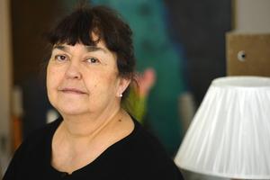 Angelica Ström, Katarina Taikons dotter, har varit delaktig i bearbetningen av Katitziböckernas språk inför nyutgivningen.   Foto: HENRIK MONTGOMERY / TT