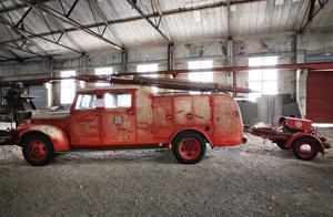 Brandstation fanns på bruket, men brandbilen står numera i götvalsverket.